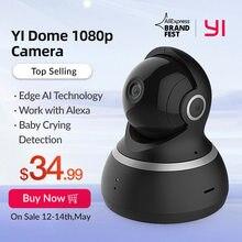 YI dôme caméra 1080P panoramique/inclinaison/Zoom sans fil IP système de Surveillance de sécurité complet 360 degrés couverture