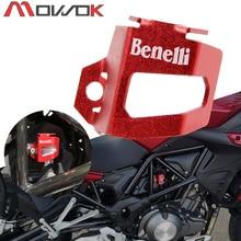Com logotipo de copo de óleo de freio de motocicleta, cnc, alumínio, proteger o copo, capa para benelli trk 502 leoncino 500 bj500