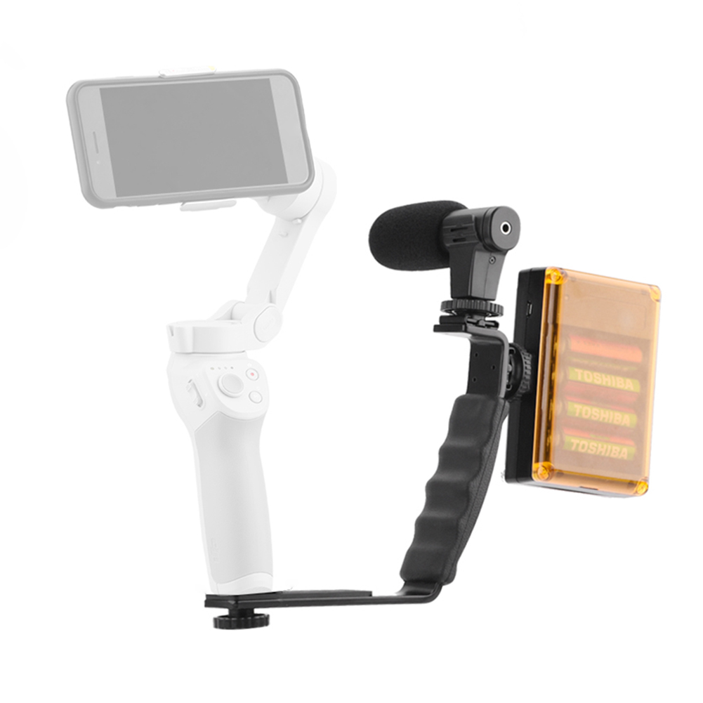 Extension Rod Non Slip Gimbal Accessories Tripod Professional L-type Bracket Handheld Stabilizer Set Metal For Osmo Mobile 4