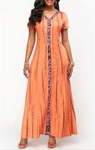 Новое модное женское летнее платье с коротким рукавом вечернее