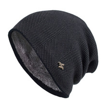 Men Winter Warm Hat New Fashion Adult Unisex Knitted Casual Beanies Sku