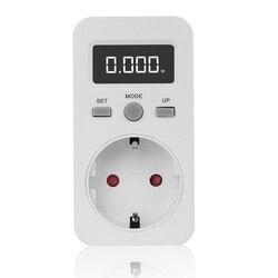 Cyfrowy miernik mocy gniazdo wtykowe miernik zużycia energii elektrycznej Wattmeter w Mierniki mocy od Narzędzia na