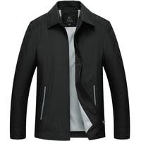 Frühling Herbst Jacken Männer Casual Mode Dünne Baumwolle Windjacke College Stehkragen Schwarz Mantel Homme Varsity Jacke W66-in Jacken aus Herrenbekleidung bei