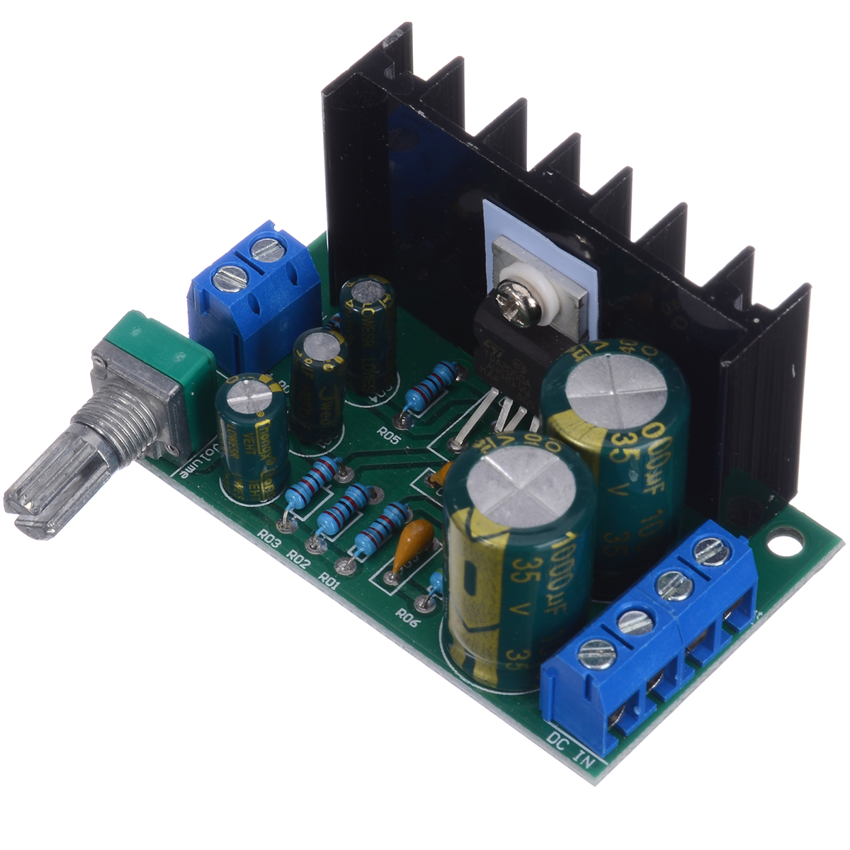 Newest TDA2050 Amplifier DC 12-24V Mono Channel Audio Power Amplifier Board Module 5W-120W DIY Modules 60x35x40mm