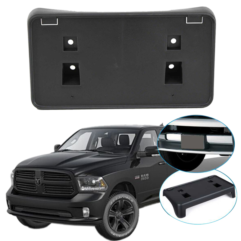 For 2013-2018 DODGE RAM 1500 FRONT STEEL BUMPER LICENSE PLATE HOLDER TAG BRACKET