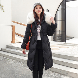 Image 4 - 2020 Winter New Parkas Womens Thicken Down Cotton Jacket Coat Warm Down Cotton Coats Female Hooded Solid Jackets Long Slim Thick