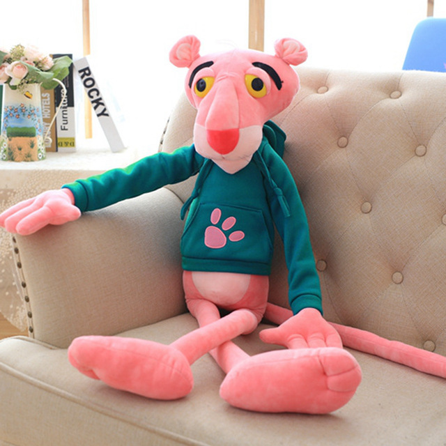 55 130cm High Quality Giant Baby Toys Plaything Cute Naughty Pink Panther Plush Stuffed Doll Toy Home Decor Girl Kawaii Gift|Stuffed & Plush Animals| - AliExpress