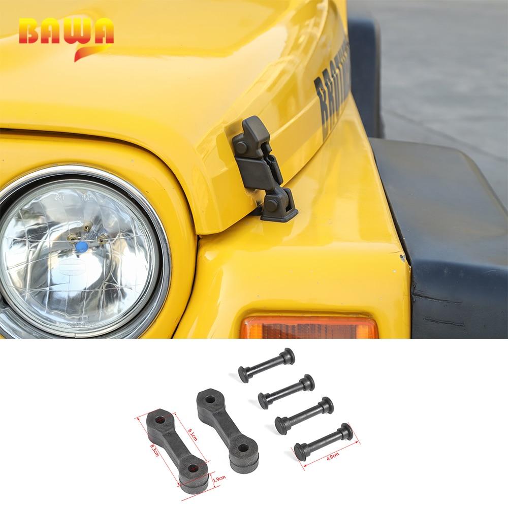 BAWA Engine Bonnet Hood Latch Component for Wrangler TJ 1997-2006 ABS Original Hood Lock for Jeep Wrangler TJ Car Hood Locks
