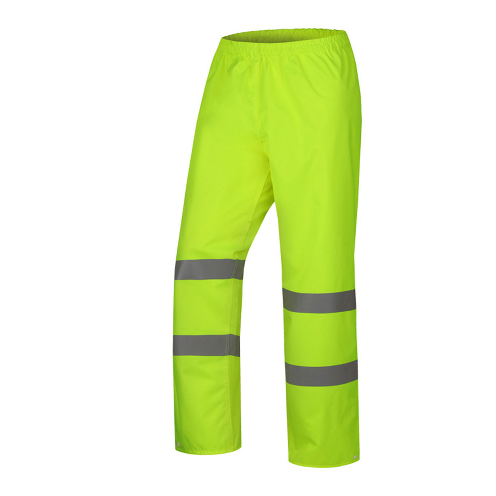 Women Men Reflective Strap Pants Camping Hiking Washable Rain Over Waterproof Trousers Fishing High Visibility Pant