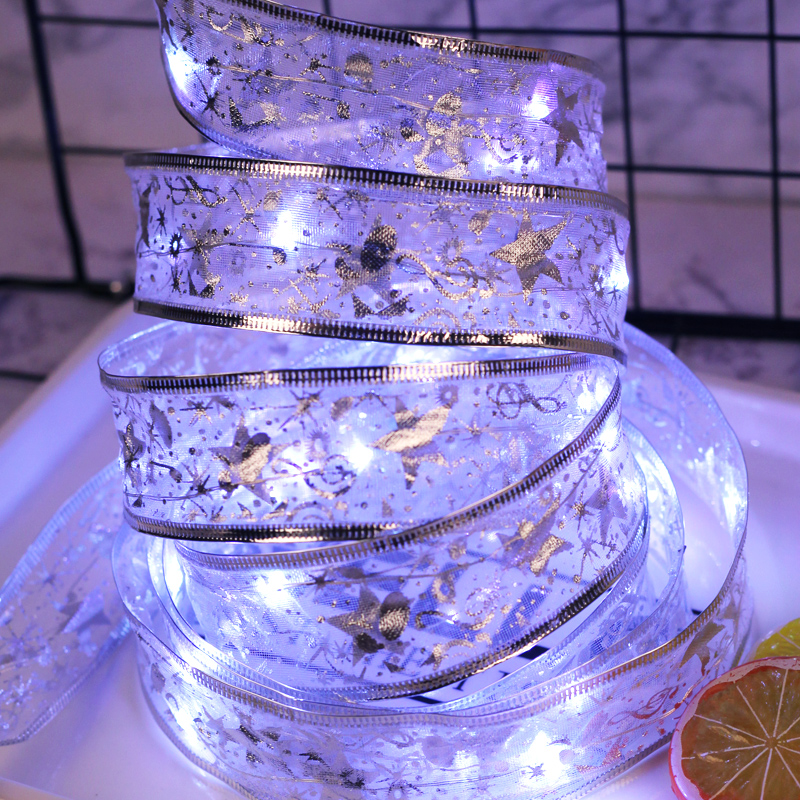 4M Bow-knot Light String Outdoor LED String Lights Holiday Lighting Fairy Garland For Christmas Tree Wedding Party Decoration