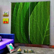 Высококачественная зеркальная 3d занавеска с рисунком зеленых