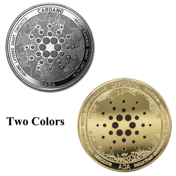 Gold/Silver Dogecoin Ada Cardano Bitcoin TRX QTUM IOTA Crypto Coin Cryptocurrency Great Gift Art Collection Physical Coin 1