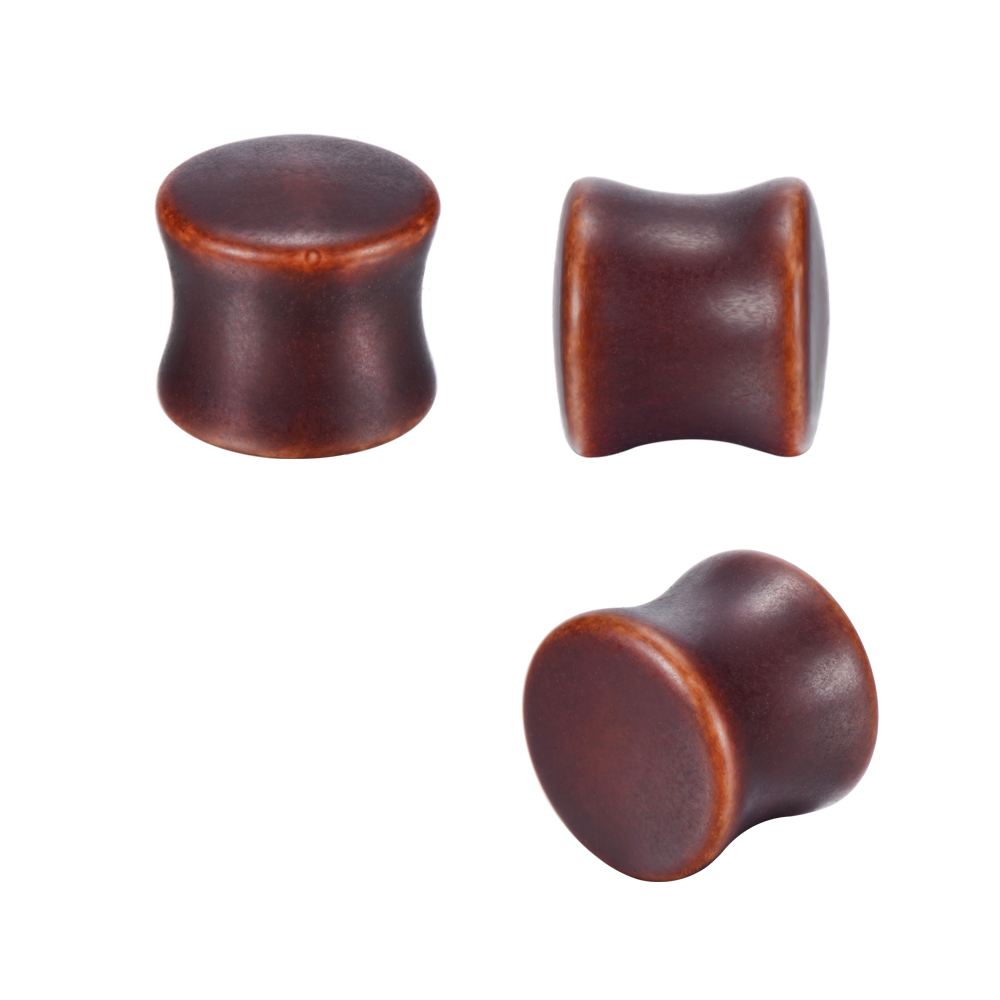 2PCS Fashion Ear Plugs Wood Flesh Tunnels Saddle Ear Gauges 12mm-14mm Solid Hollow Body Piercing Jewelry For Men Women Expander image