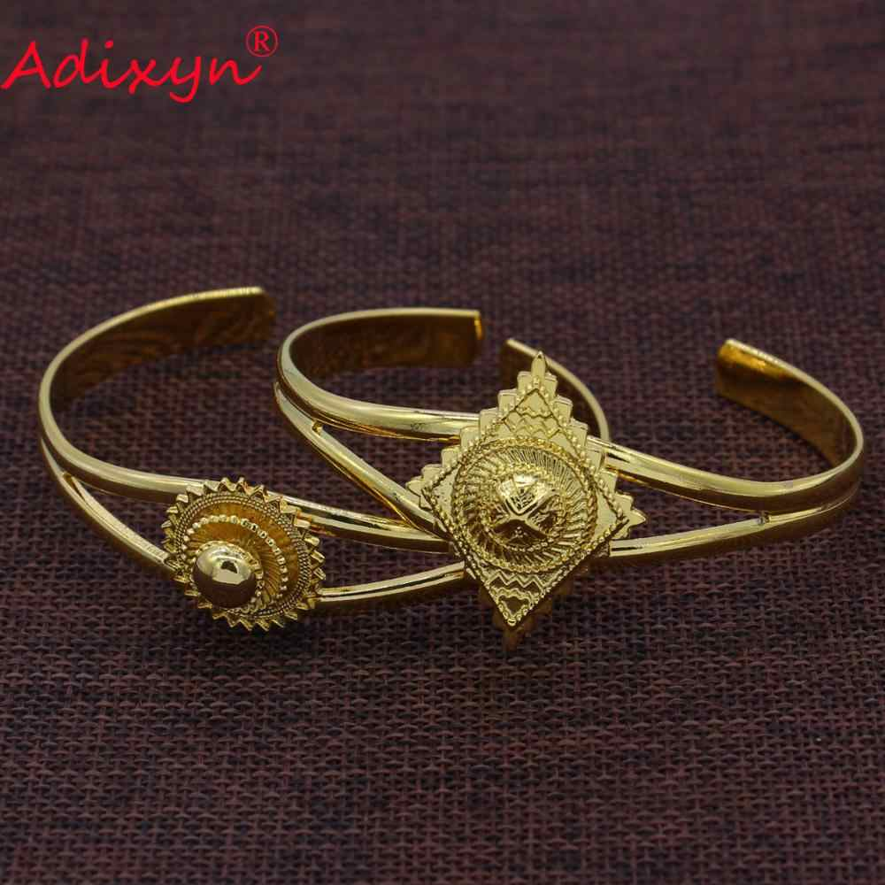 Adixyn לערבב אפריקאי דובאי צמידים לנשים זהב צבע צמיד תכשיטי מזרח התיכון המפלגה מתנות N09051