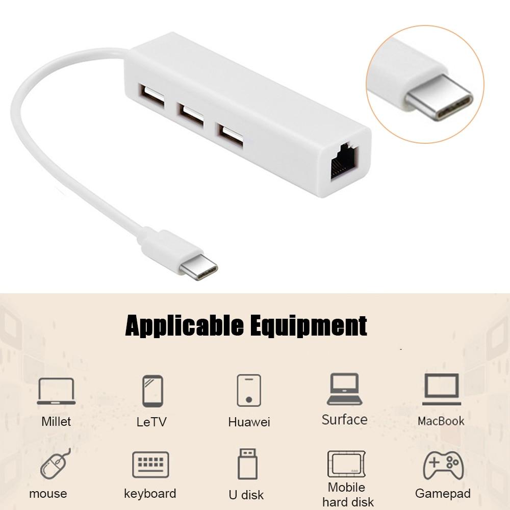 3 Dock USB Network Card Type C To HDMI HUB Ethernet RJ45 Lan Adapter For MacBook Samsung Dex Galaxy USB-C 100Mbps Converter
