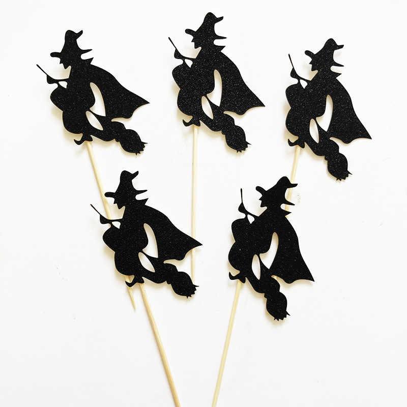5 יח'\אריזה רפאים מכשפה חתול ליל כל הקדושים עוגת Toppers Cupcake כרטיס Creative קינוח עוגת דגל ליל כל הקדושים המפלגה אספקת קישוט