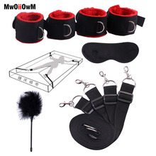 Sex toys for women male bdsm bondage kit under the bed restraint erotic handcuffs & cuffs &ankle amp; mask adult games for couples