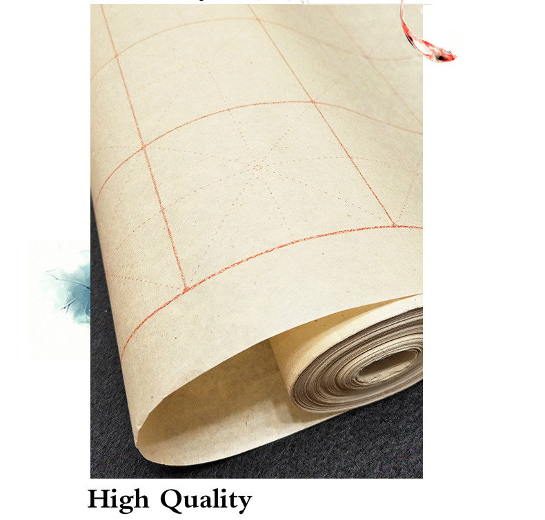 Chinese Rice Paper Roll Hi-Quality Half Raw Ripe Paper for Writing /& Painting