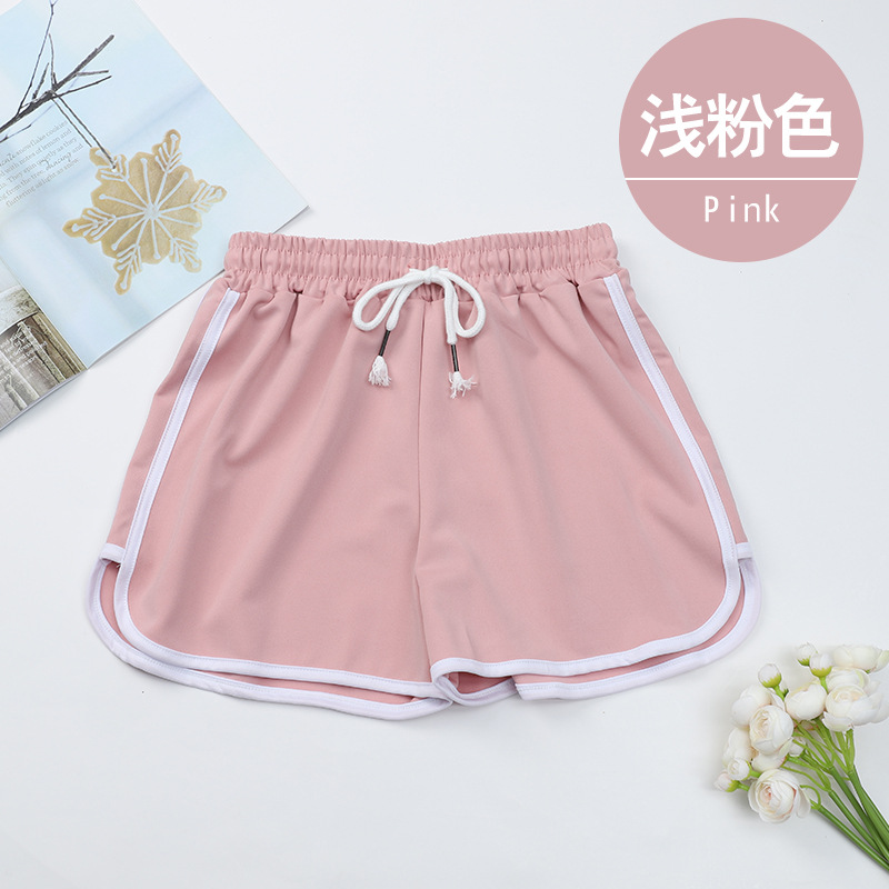 Sports Shorts Female Summer Loose Korean Version 2020 New Outer Wear High Waist Was Thin Casual  Pants White