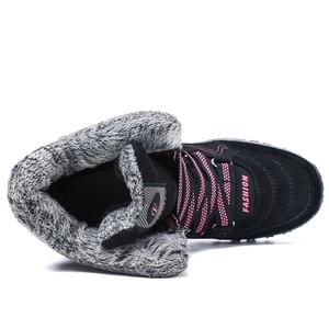 Image 3 - ฤดูหนาวรองเท้าผู้หญิงรองเท้าบู๊ตหิมะรองเท้าสตรีรองเท้าผ้าฝ้ายหญิงข้อเท้าสูงรองเท้าสวมใส่ลื่นBota feminina