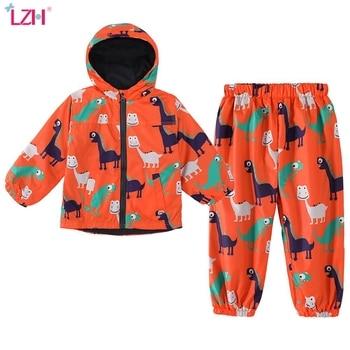 Children Clothing 2020 Autumn Winter Boys Clothes Dinosaur Jacket+Pant Outfit Kids Boy Sport Suit For Sets - discount item  49% OFF Children's Clothing