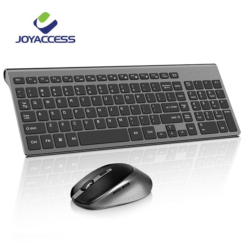 JOYACCESS Ergonomic Wireless Keyboard And Mouse Set Computer Mause Silent Button Keyboard And Mouse Combo 2.4G For Laptop PC