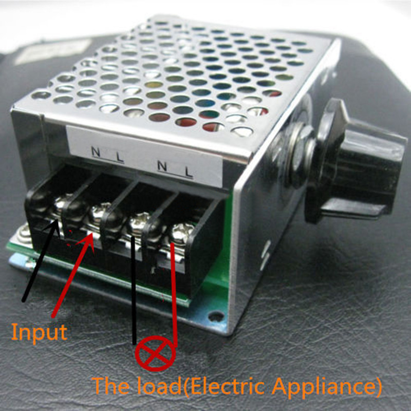 Voltage Regulator Dimmers Motor Speed Controller AC 110V 220V SCR Temperature Control Switch Cooling Fan Tool Parts