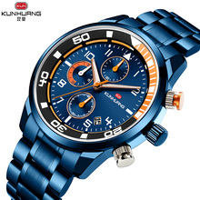 Men watchs Top Brand Luxury Chronograph Wrist Watch All Stee