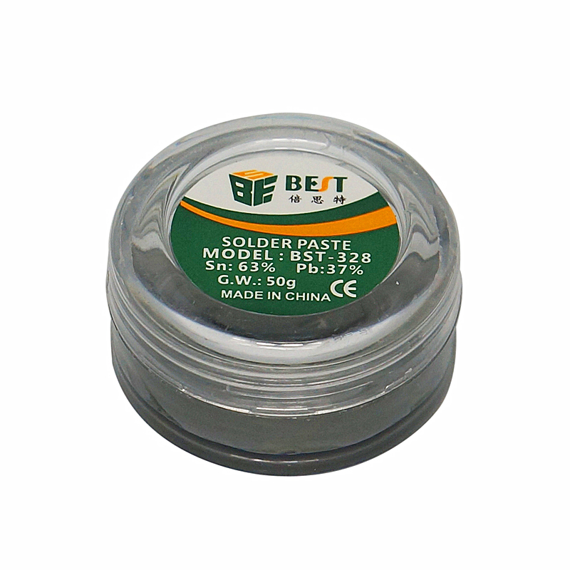 BGA Tools Paste Lead Solder For Electronics Manufacture BST-328 50g Solder Tin Paste Lead Soldering Aid Accessories