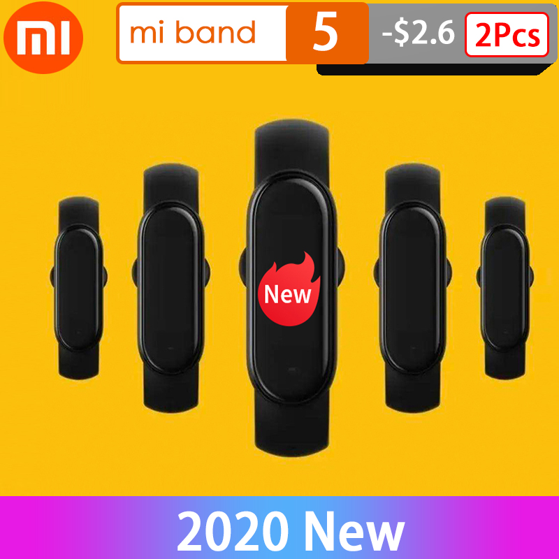 Xiaomi mi banda 5 pulseira inteligente 4 tela de toque cor miband 5 nfc pulseira de fitness monitor de freqüência cardíaca smartband|Pulseiras inteligentes|   - AliExpress