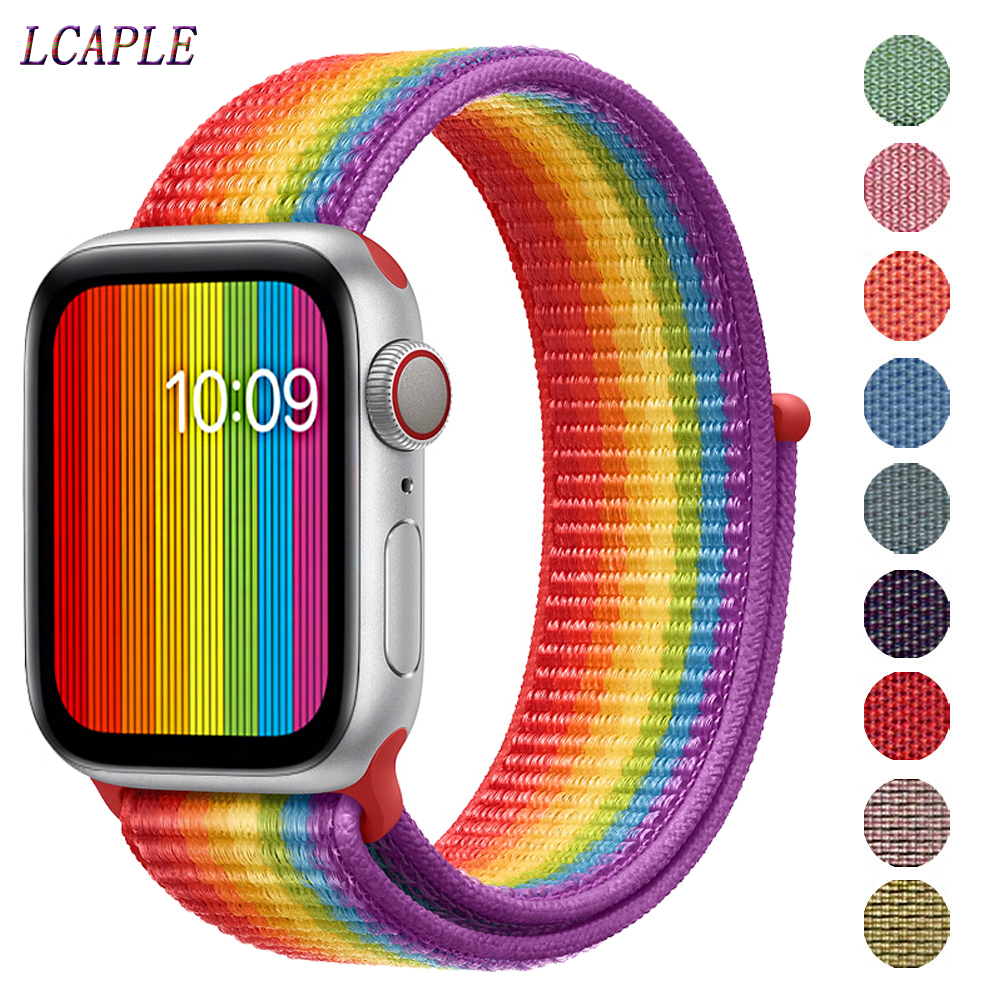 Band For Apple Watch Strap Apple Watch 5 Band 44mm 40mm Correa 42mm 38mm Iwatch 5 4 3 2 1 Nylon Pulseira Bracelet Watchband Belt