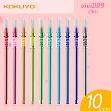 Japan KOKUYO VIVIDRY Slim 0.4mm Gel Pen Office School Student Writing Gel-lnk Stationery Supplies 1Pcs