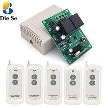 Placa receptora de relé elétrica, controlador de controle remoto dc 12v 10a rf e transmissor de longo alcance para motor tubular/garagem