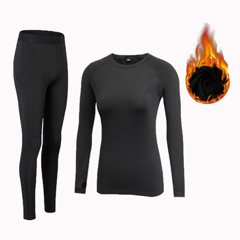 Fanceey O Neck Shirt Base Women Thermal Underwear Long Johns for Clothing Second Skin Winter Female Suit - discount item  58% OFF Women's Intimates