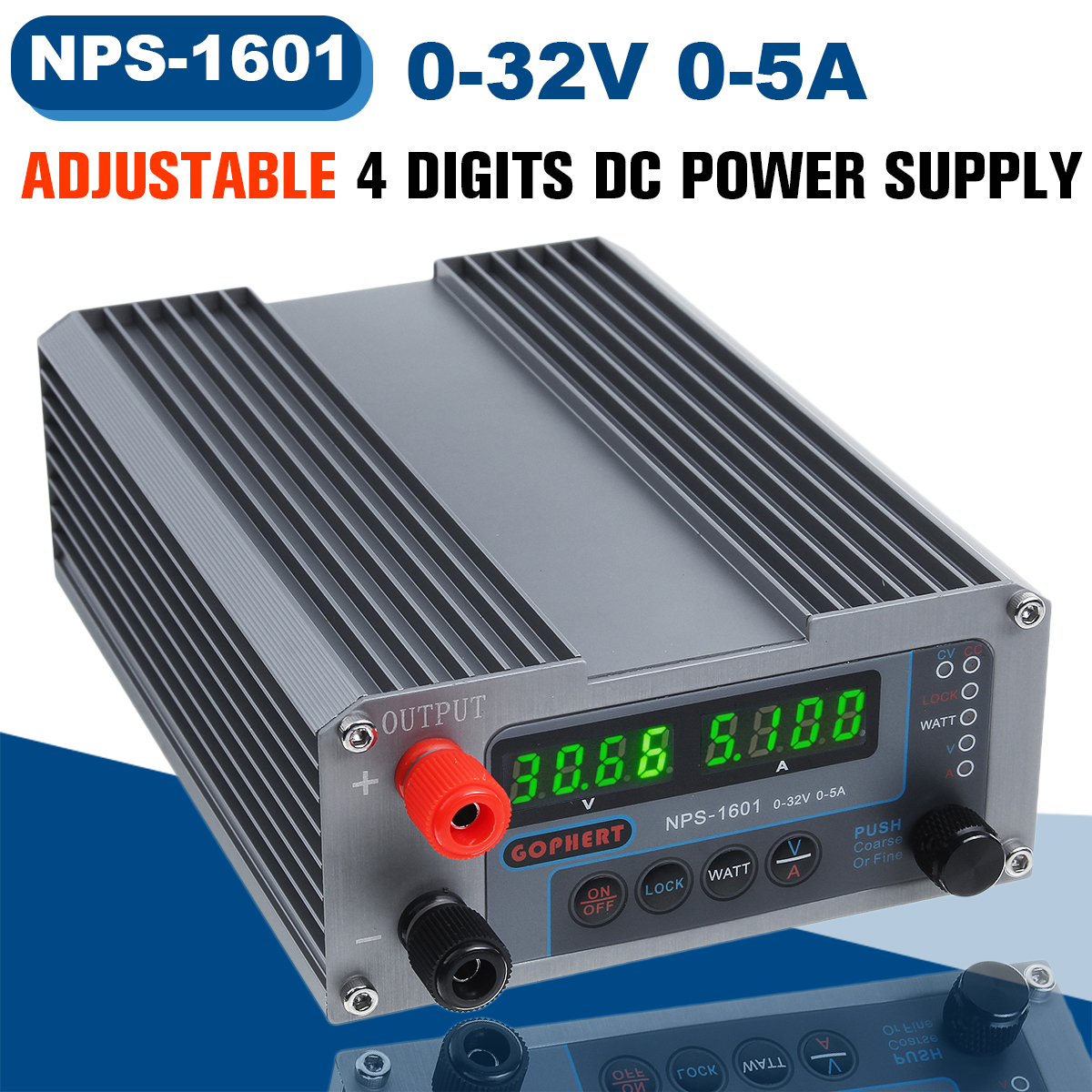 NEW NPS-1601 CPS-3205 3205II Mini Adjustable Digital Switch DC <font><b>Power</b></font> <font><b>Supply</b></font> With WATT Lock Function 0.001A 0.01V 32V <font><b>30V</b></font> <font><b>5A</b></font> image