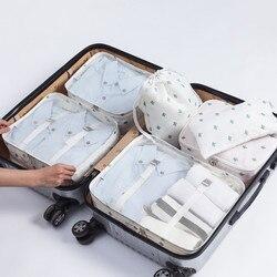 Mihawk Reisetaschen Sets Wasserdichte Verpackung Cube Tragbare Kleidung Sortierung Organizer Gepäck Tote System Langlebig Ordentlich Pouch Zeug