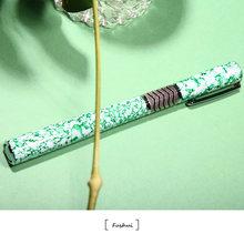 Ручка перьевая с керамическим дизайном металлическая красивой