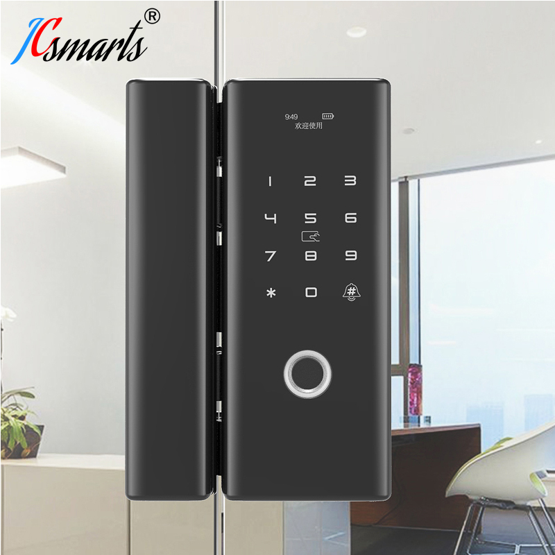 Smart Fechadura Digital Door Lock Glass Door Fingerprint Lock With Touch Keypad And Card Reader For Office