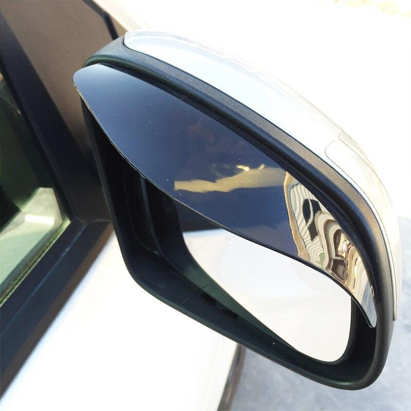 2Pcs Auto Achteruitkijkspiegel Vizier Baffle Regenkap Wenkbrauw Spiegel Deflector Cover Voor Smart 451 453 Fortwo Forfour Accessoires-in Luifels & Schuilplaatsen van Auto´s & Motoren op title=