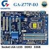 Placa base PC Gigabyte GA-Z77P-D3 DDR3 Z77P-D3 Compatible con HDMI USB3.0 32GB Z77 placa base de escritorio LGA 1155