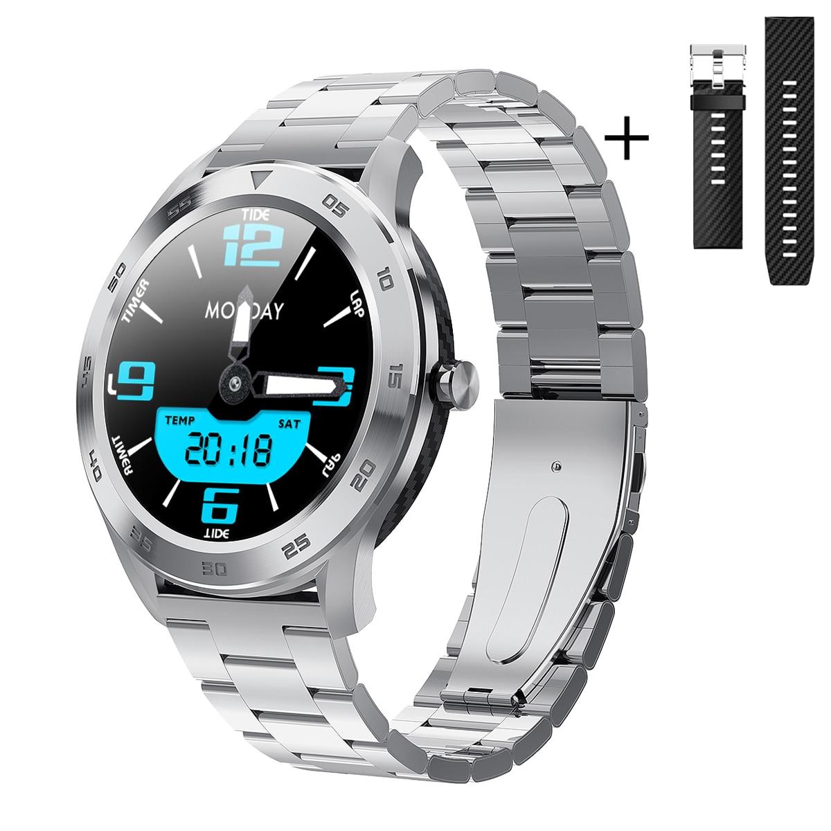Monitor de Freqüência Ip68 à Prova Pulseira Livre Negócios Relógio Inteligente Masculino Ecg Ppg Cardíaca Pressão Arterial Smartver Dip68 Água Múltipla Esporte
