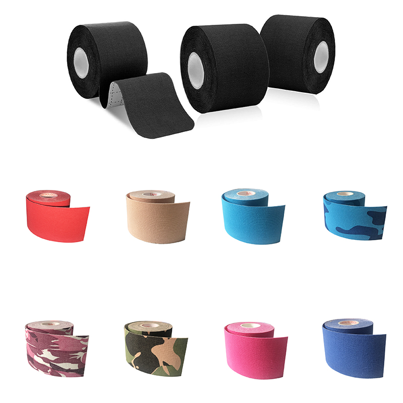 6 Rolls Waterproof Cotton Elastic Kinesiology Tape Adhesive Bandage Knee Elbow Protector Muscle Sports Taping Width 2.5-5cm