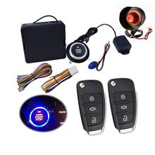 9Pcs 12V Car SUV Keyless Entry Engine Start Alarm System One Start Stop Push Button With Remote Control Starter Alarm System недорого