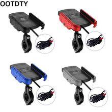 Su geçirmez 12V motosiklet telefon Qi hızlı şarj kablosuz şarj braketi tutucu dağı standı Xs MAX XR X 8 Samsung