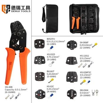 Juego de alicates para herramientas de prensado XH2.54 enchufamos/tubular/tubo/terminales aislados SN-48 alicates...