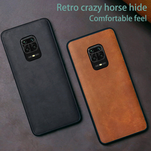 Image 1 - Leather Phone Case For Xiaomi Redmi Note 9S 8 7 K30 Mi 10 Ultra 9 Lite 9T A3 Mix 2s Max 3 Poco F1 F2 Pro X2 X3 Crazy Horse Cover