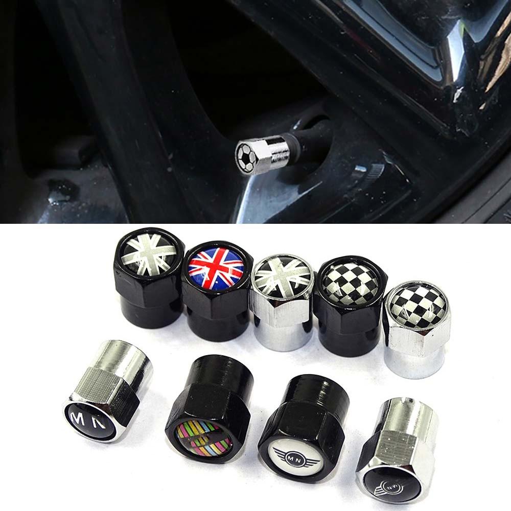 Auto Accessories 6 Corners Wheel Tire Parts Valve Stem Caps Cover For Mini Cooper Countryman Clubman R55 R56 R60 F54 F55 F56 F60