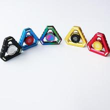 Toy Hand-Spinner Stress Metal-Bearing EDC Hand-Relieves Triangular Kids Gifts Fluorescence