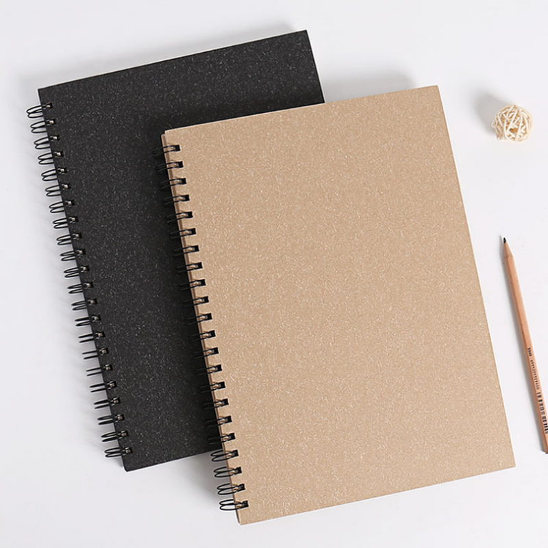 Sketchbook Notebook For Drawing Painting Black Memo Gift Paper Supplies Graffiti Office Soft Cover Pad Sketch Book Diary School