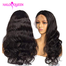 HALOQUEEN Body Wave Wigs Lace Front Wigs Natural Hairline Wi